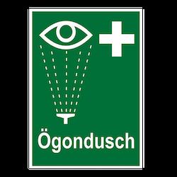 Skylt Ögondusch, plast A5