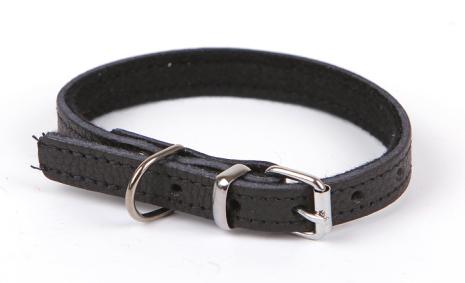 Läderhalsband Valp / Småhund