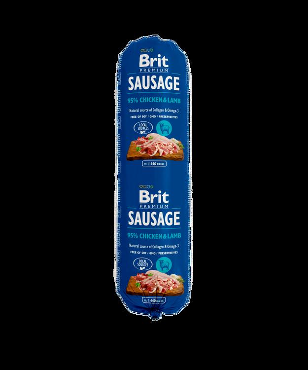 Brit Köttkorv Chicken & Lamb 800 g