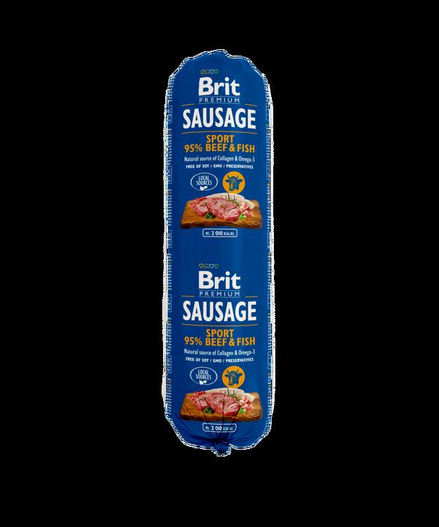 Brit Köttkorv Beef & Fish SPORT 800 g