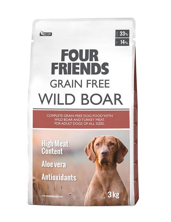 Spannmålsfri hundmat vildsvin