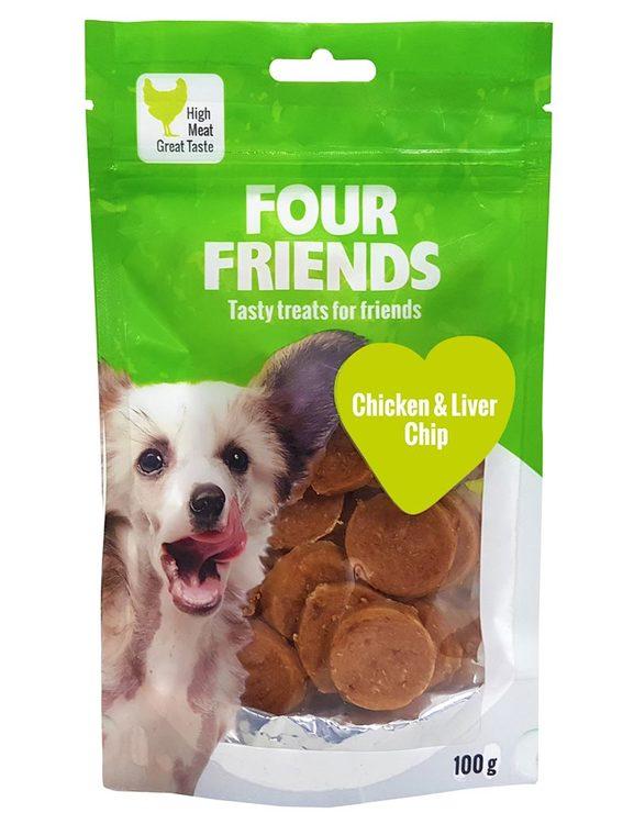 Chicken & liverchips 100 gr