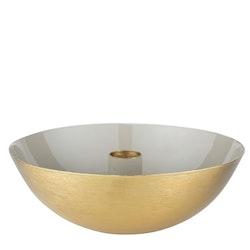 Ljusstake beige/guld - stor
