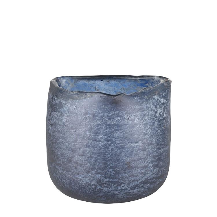 ljuslykta mörkblå glas lene bjerre