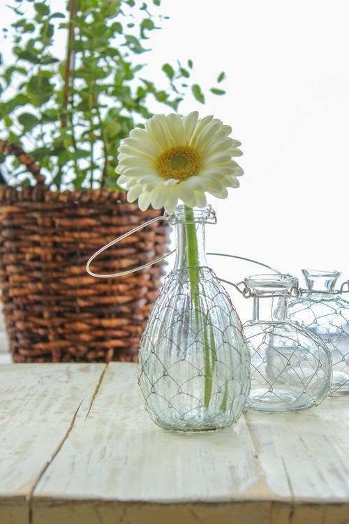 hangande vas klarglas