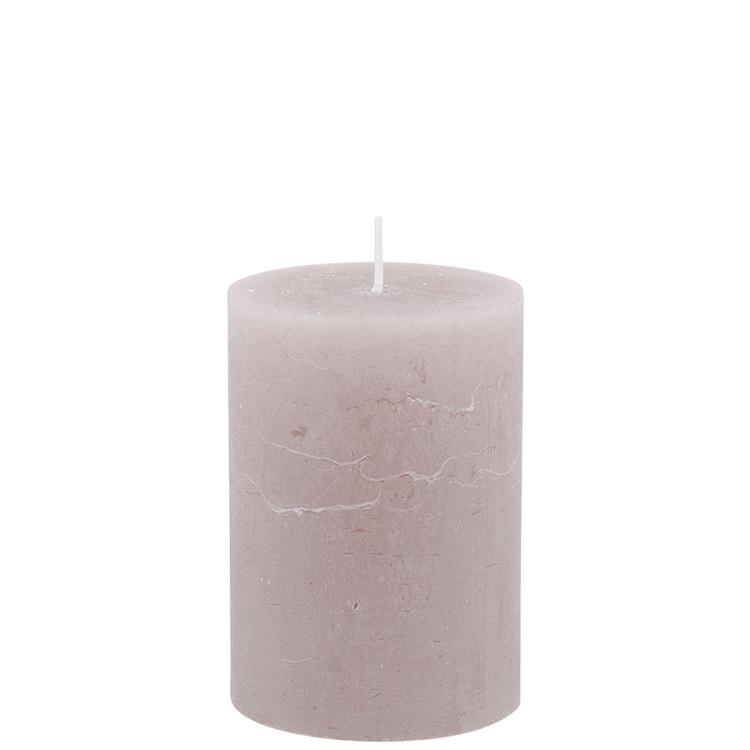 Mullvadsfärgat blockljus höjd 10 cm diameter 7 cm