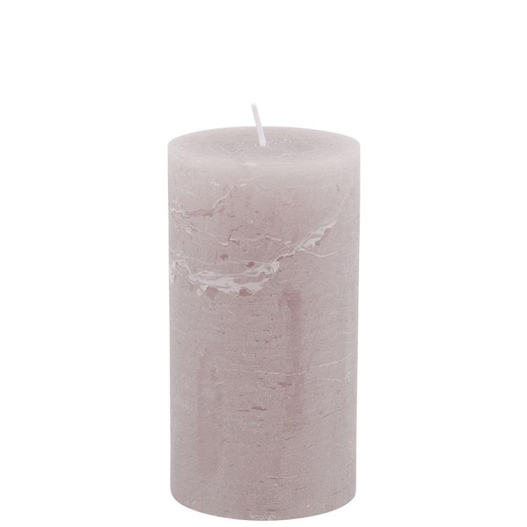 Mullvadsfärgat blockljus höjd 13 cm diameter 7 cm