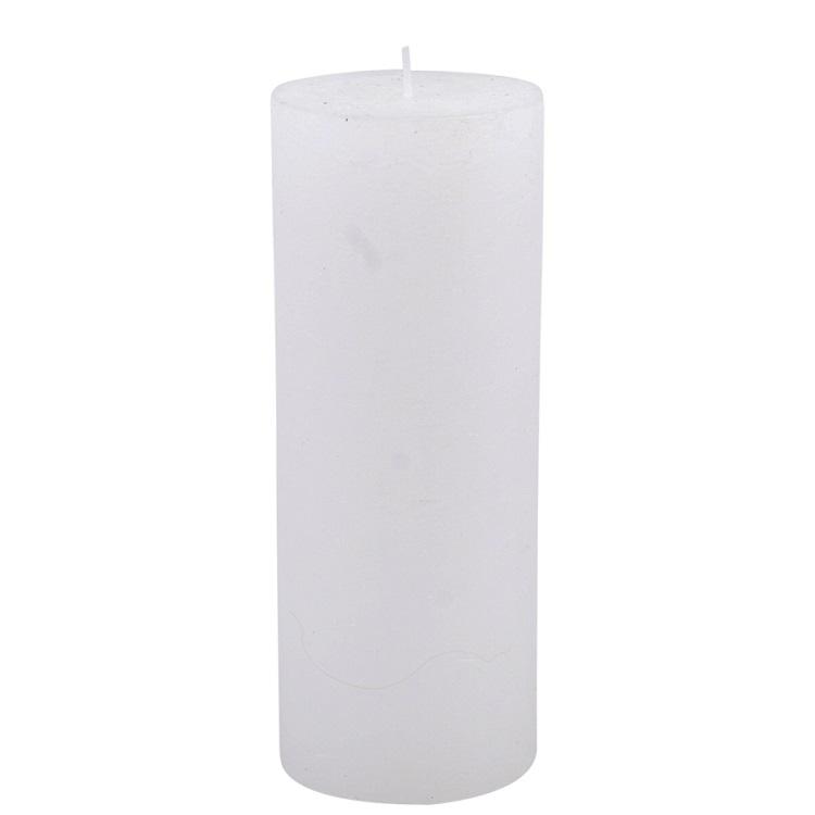 Vitt blockljus höjd 18 cm diameter 7 cm