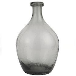 Grå glasvas - 28 cm