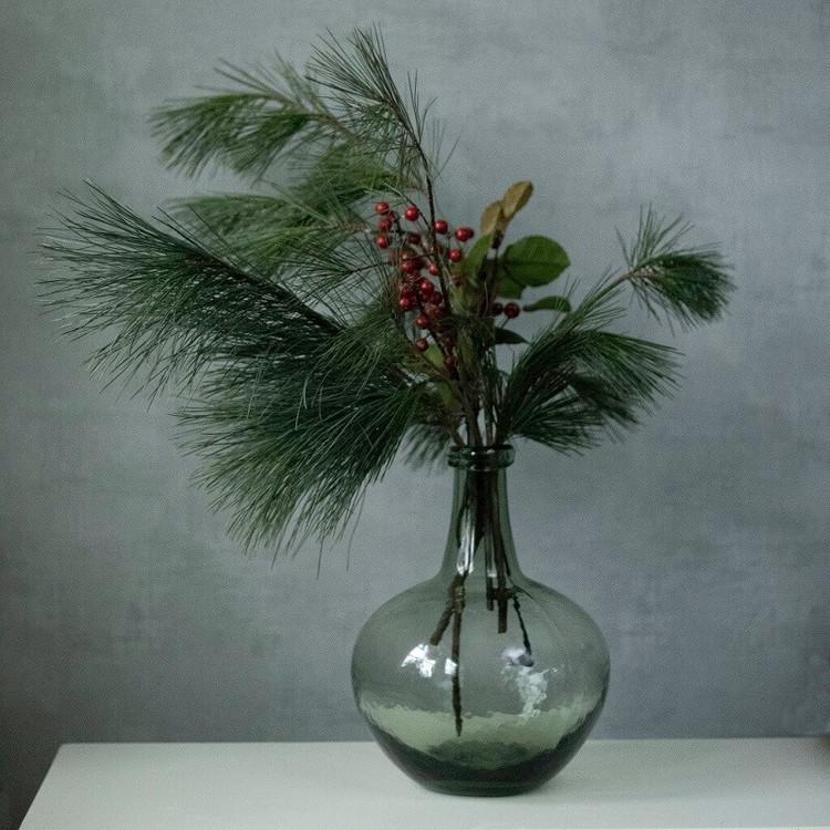 Grön glasvas 24 cm Ib Laursen