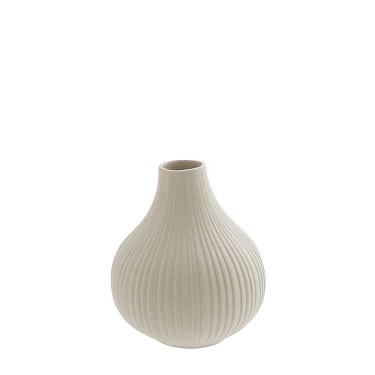 Liten vas Ekenäs beige keramik