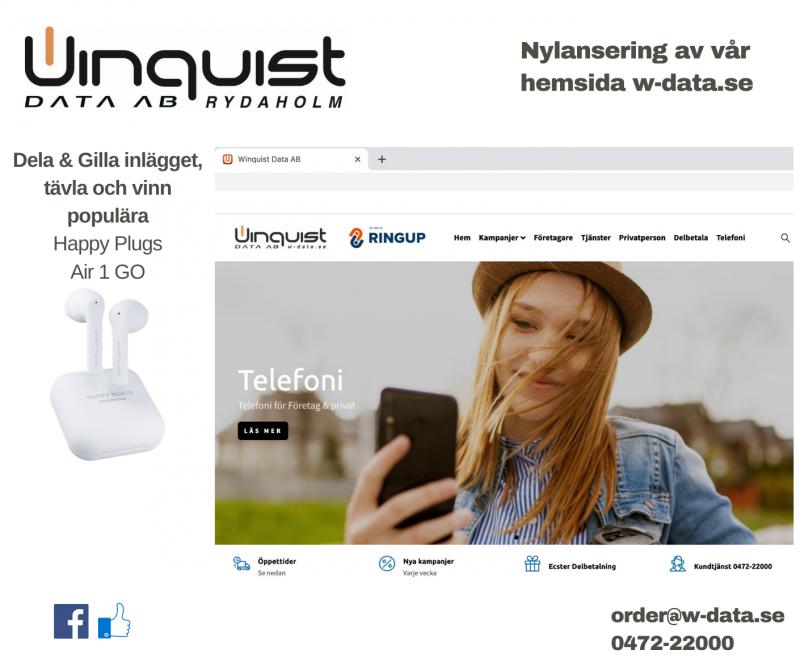 Nylansering av w-data.se vinnaren utsedd!