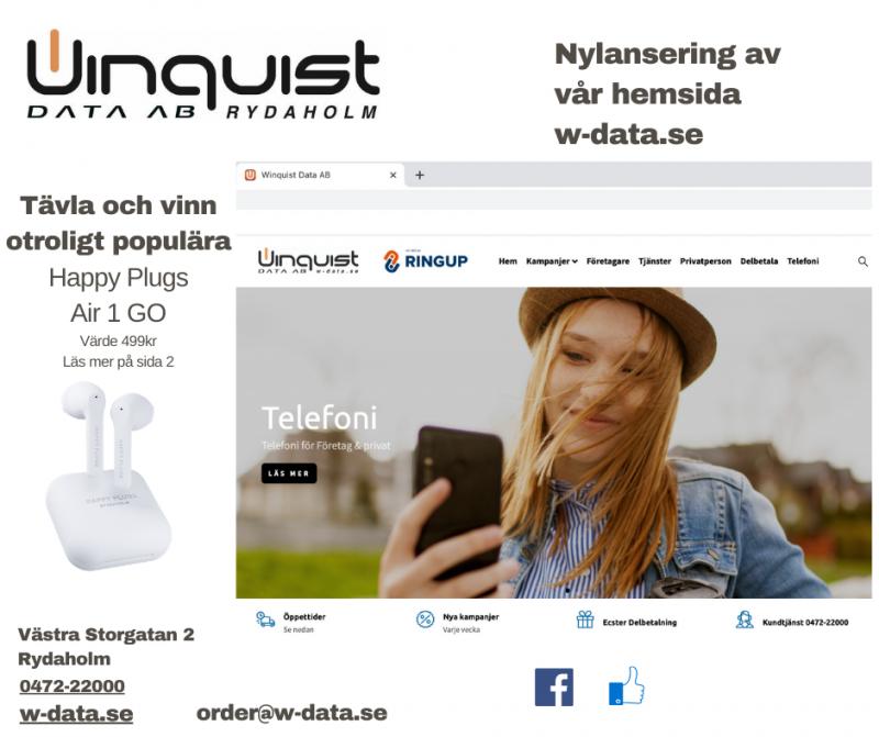 Nylansering av w-data.se