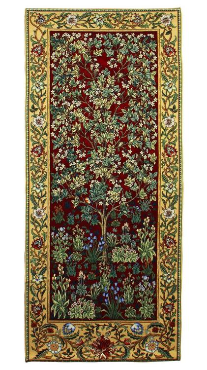 Bonad Tree of Life Red              William Morris