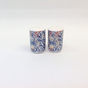 Salt & Peppar Golden Lily Blue         William Morris
