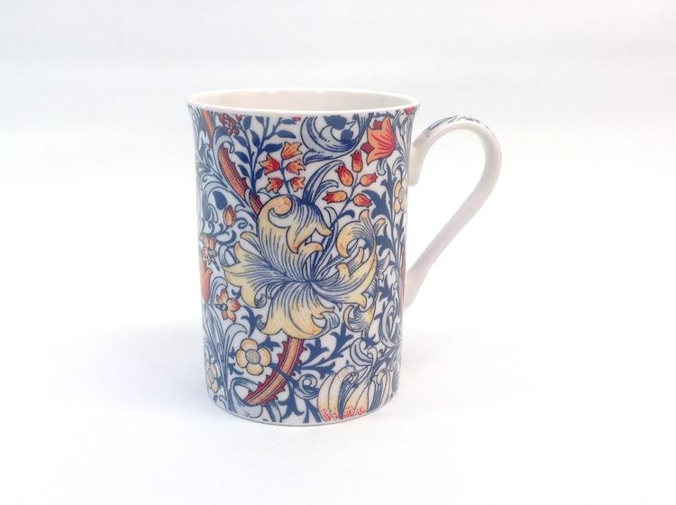 1-mugg Golden Lily Blue             William Morris