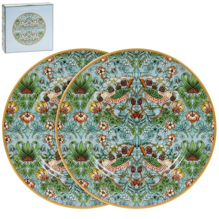 Assietter 2-pack Teal        William Morris