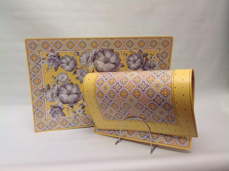 Bordstablett Yellow Baroque