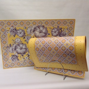 Bordstablett Yellow Baroque