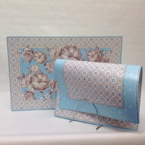 Bordstablett Blue Baroque
