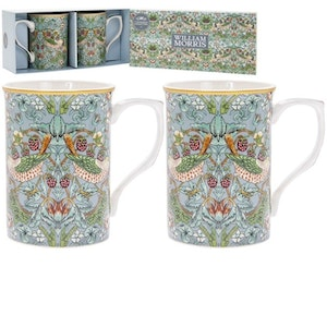 2-mugg Teal        William Morris