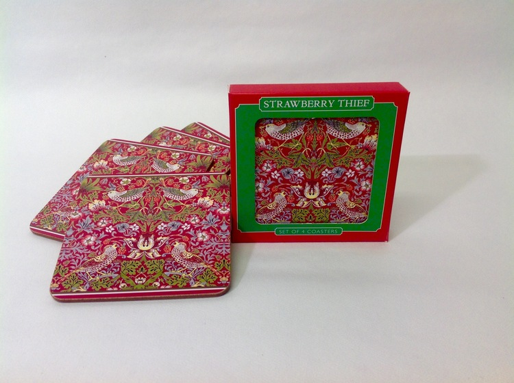 Coaster Strawberry Red New    William Morris