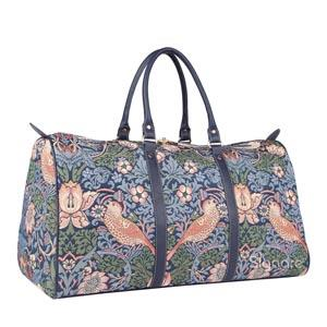 Week End Bag Strawberry Blue     William Morris