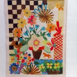Handduk Blommor