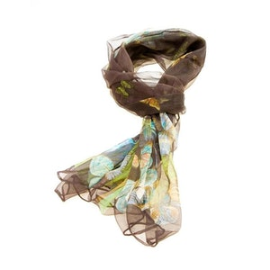 Scarf Dark Brown Butterfly