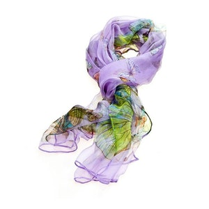 Scarf Lilac Butterfly