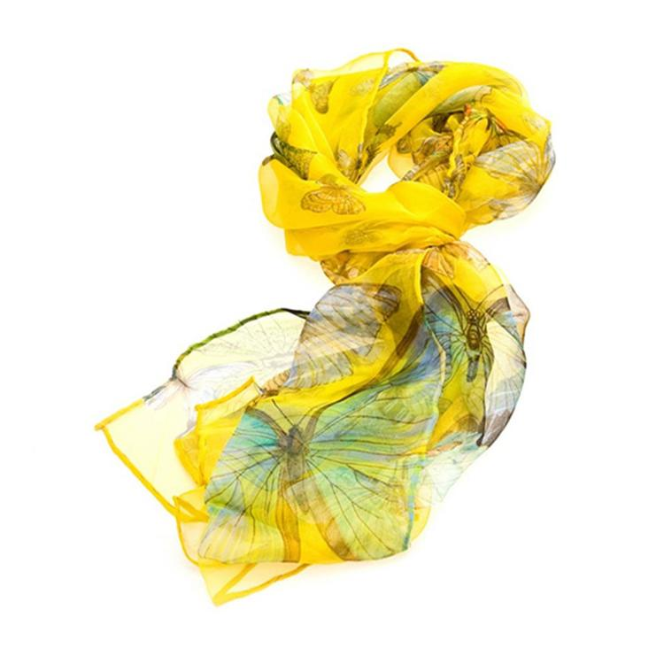 Scarf Yellow Butterfly