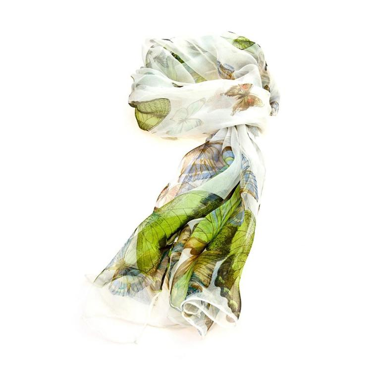Scarf White Butterfly