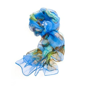 Scarf Blue Butterfly