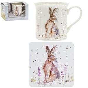 1-mugg Hare & Coaster