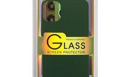 Glass screen protector back - Glas skydd till baksida iPhone 11 Pro Max- Grön