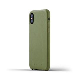 Läderfodral iPhone X/XS - Oliv