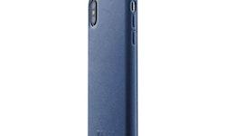 Mujjo läderfodral för iPhone X/XS Blå