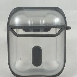 Fodral Air Pods Eggshell 360 - Transparent med gråa detaljer
