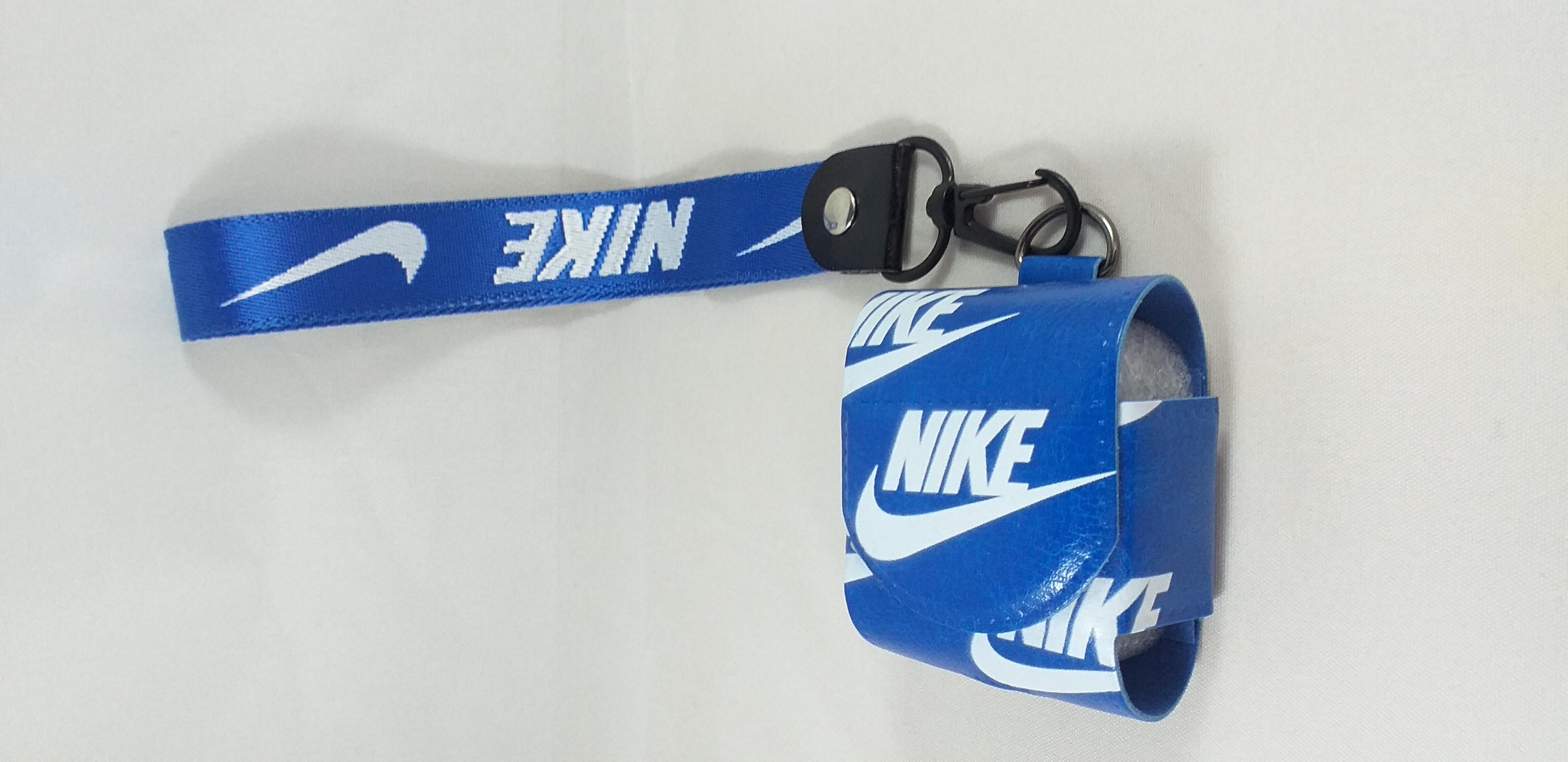 Air pods  Läder väska - Leather Case NIKE- Blå