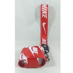 Air pods  Läder väska - Leather Case NIKE- Röd