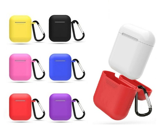 Paket - Färgglada och trevliga Silicone Case till din iPhone 11 Pro - Vinröd - Hallon