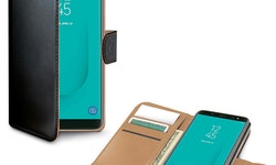 CELLY Wallet Case Galaxy J6 2018 - Svart