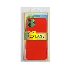 Glass screen protector back - Glas skydd till baksida iPhone 11 - Röd