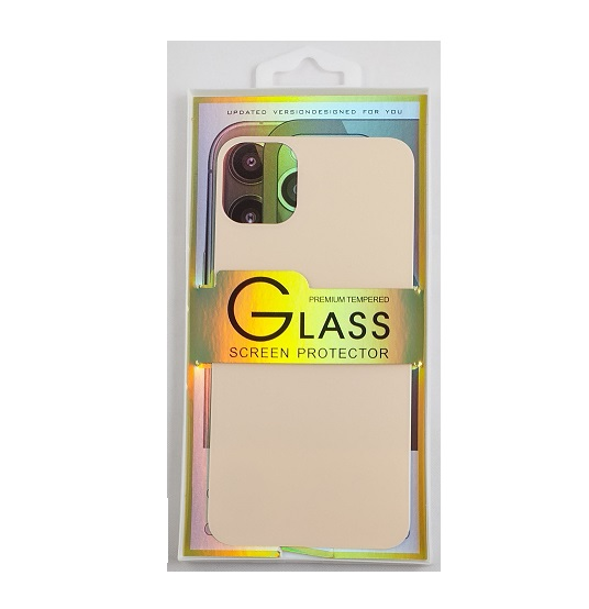 Glass screen protector back - Glas skydd till baksida iPhone 11 - Röd