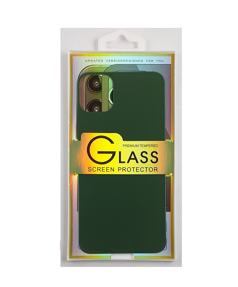 Glass screen protector back - Glas skydd till baksida iPhone 11 - Svart