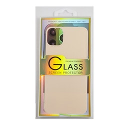Glass screen protector back - Glas skydd till baksida iPhone 11 - Rosé guld