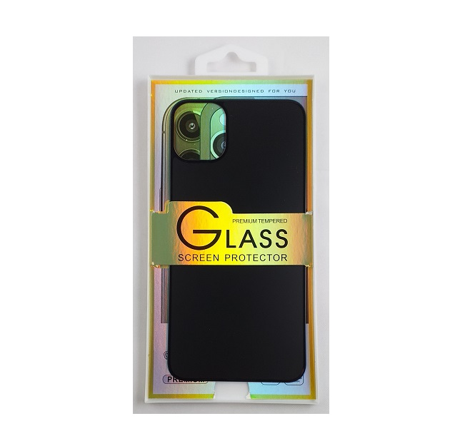 Glass screen protector back - Glas skydd till baksida iPhone 11 - Vit