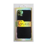 Glass screen protector back - Glas skydd till baksida iPhone 11 Pro - Svart