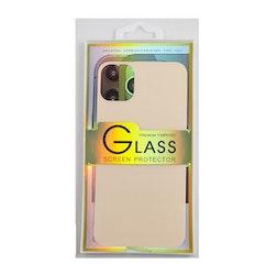 Glass screen protector back - Glas skydd till baksida iPhone 11 Pro Max - Rosé guld
