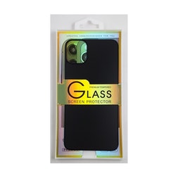 Glass screen protector back - Glas skydd till baksida iPhone 11 Pro Max- Svart